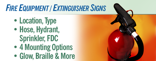 Fire Equipment / Extinguisher Signs & Labels