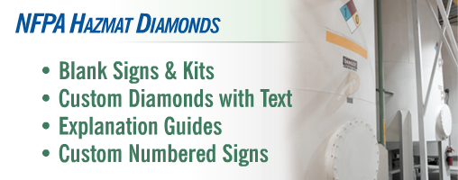 NFPA 704 Hazmat Diamonds