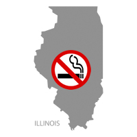 IL Illinois No Smoking Signs and Labels