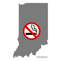 IN Indiana No Smoking Signs and Labels