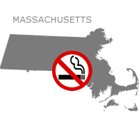MA Massachusetts No Smoking Signs and Labels