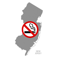 NJ New Jersey No Smoking Signs and Labels