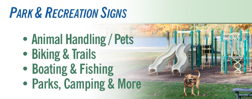 Park and Recreation Signs
