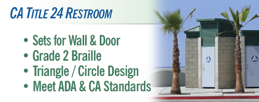 Bathroom Signs Circle And Triangle ca title 24 restroom signs and symbols