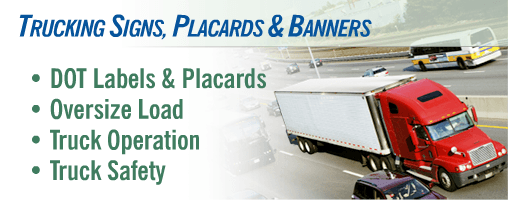 Truck Operation & Safety Signs