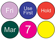 One Color Blank or Pre-Printed Circles