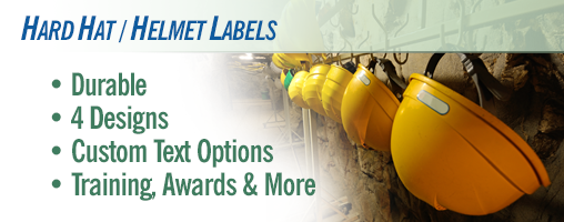 Hard Hat / Helmet Labels