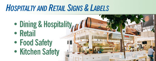 Hospitality and Retail Signs & Labels
