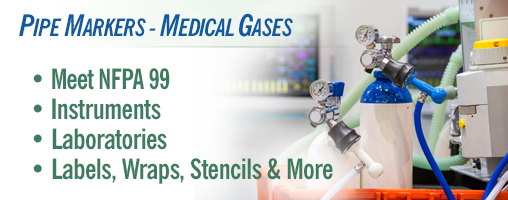 Pipe Markers - Medical Gases
