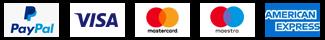 Paypal Badge, Visa Badge, Mastercard Badge, Maestro Badge, American Express Badge