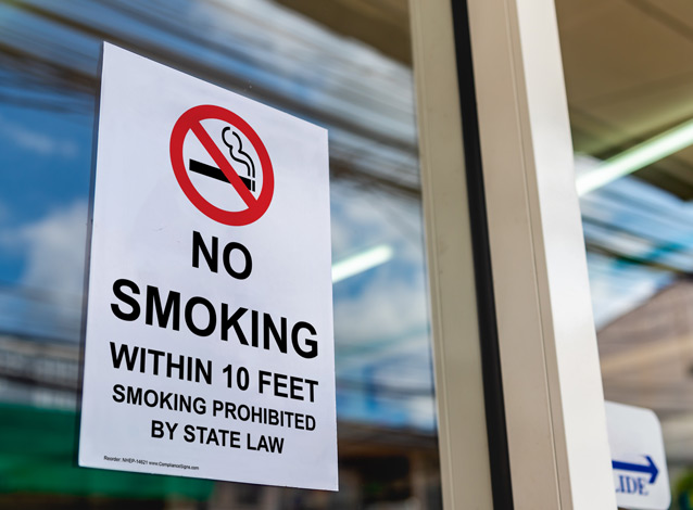 smoking prohibited by state law