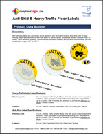 Anti-Skid and Heavy Traffic Floor labels